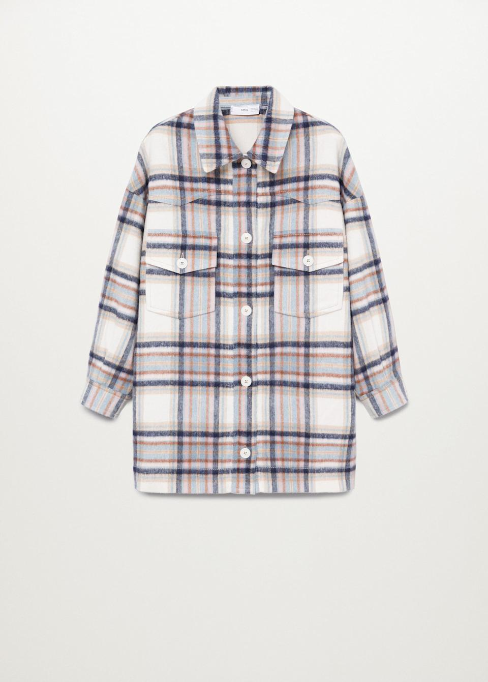 <p>Overshirts are in. Case in point: Irina Shayk in this <span>Mango Oversized Check Overshirt</span> ($120), an ideal layering piece for those moderately chilly days.</p>