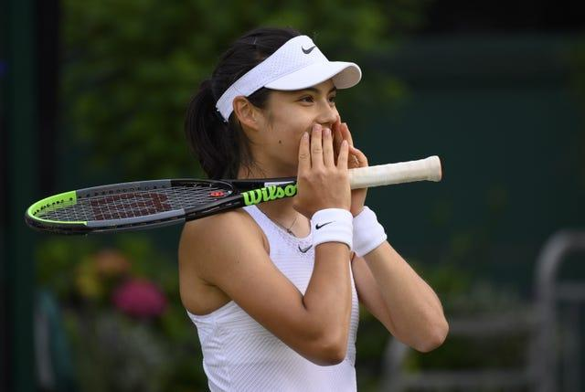 Emma Raducanu started playing tennis when she was aged five
