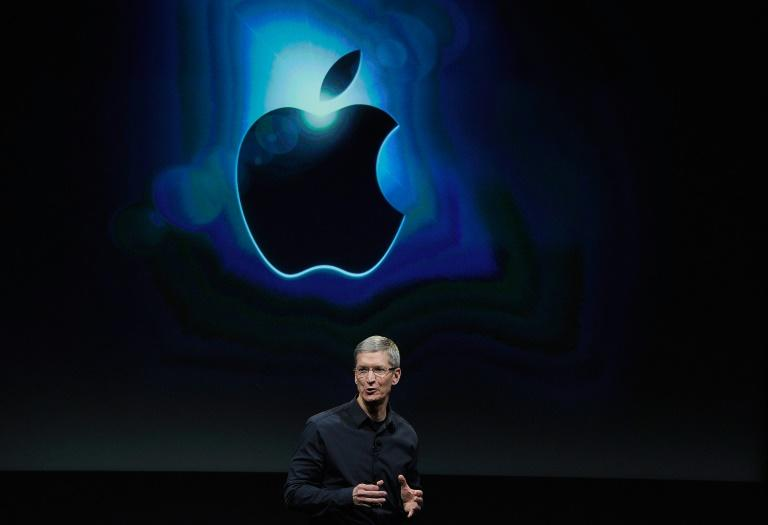 Apple CEO Tim Cook noted that services represent a major growth avenue for the tech giant as iPhone sales sputter (AFP Photo/KEVORK DJANSEZIAN)