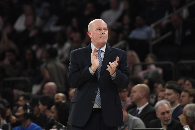 "After ""coming down with an illness"" during Friday's game, Magic coach Steve Clifford was sent to a local hospital for further evaluation. (Sarah Stier/Getty Images)"