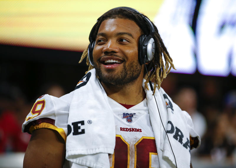 Derrius Guice rocked the house in Atlanta. Can it really carry over into the regular season for fantasy managers? (Photo by Todd Kirkland/Getty Images)