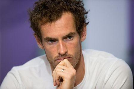 FILE PHOTO: Tennis - Wimbledon - London, Britain - July 12, 2017  Great Britain's Andy Murray during a press conference after losing his quarter final match against Sam Querrey of the U.S.   REUTERS/Joe Toth/Pool