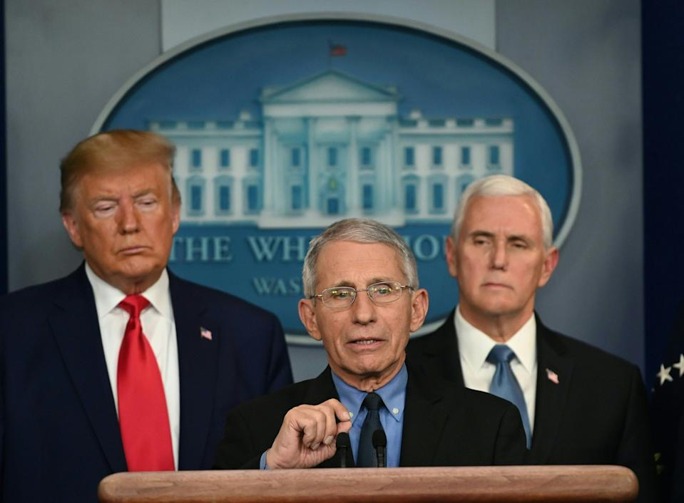 Vice President Mike Pence, holding a news conference with President Trump and Dr. Anthony Fauci, director of the National Institute of Allergy and Infectious Diseases, led the administration's Coronavirus Task Force after the pandemic hit the U.S. in early 2020.