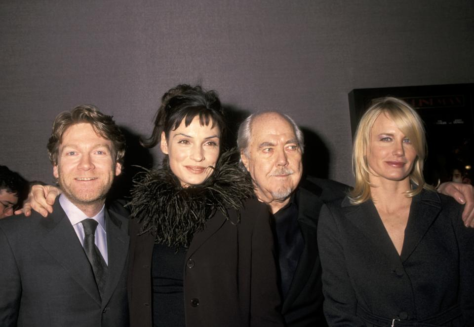 Kenneth Branagh, Famke Jansse, Robert Altman and Daryl Hannah (Photo by Ron Galella/Ron Galella Collection via Getty Images)