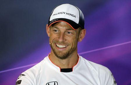 Formula One - F1 - Italian Grand Prix 2016 - Monza, Italy - 01/9/16 - McLaren's Jenson Button of Britain smiles during the news conference. REUTERS/Max Rossi Picture Supplied by Action Images