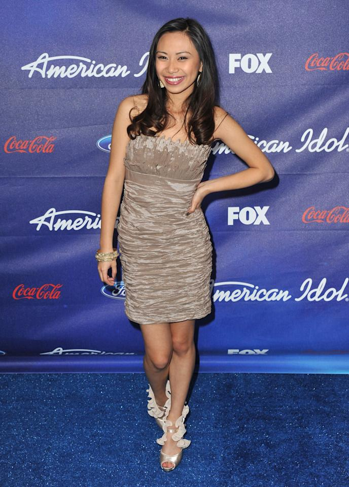 """Finalist Jessica Sanchez attends the Season 11 """"<a href=""""http://tv.yahoo.com/american-idol/show/34934"""">American Idol</a>"""" Top 13 Finalists Party on Thursday, March 1 at The Grove in Los Angeles, CA."""