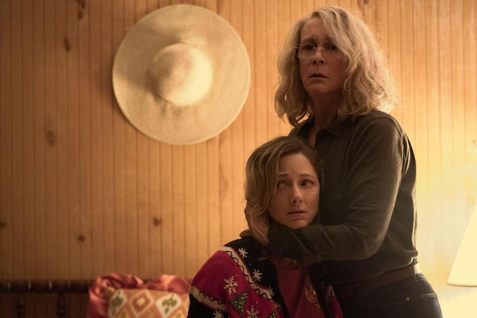 """<p>In the 11th installment in the <span class=""""nofilter"""">Halloween</span> franchise, Jamie Lee Curtis reprises her role as Laurie Strode, who - 40 years after she was first terrorized by the masked killer - must face Michael Myers once again on Halloween night. If you need a refresher, you can also find every other movie in the franchise (including the <span>1978 original of the same name</span>) on Amazon Prime. </p> <p><span>Watch <strong>Halloween</strong> on Amazon Prime</span>. </p>"""