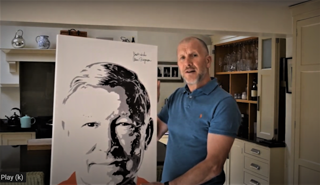 Stewart Regan with the signed portrait (PA)