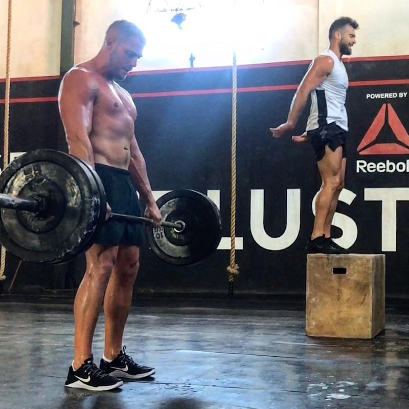 James Smith doing crossfit