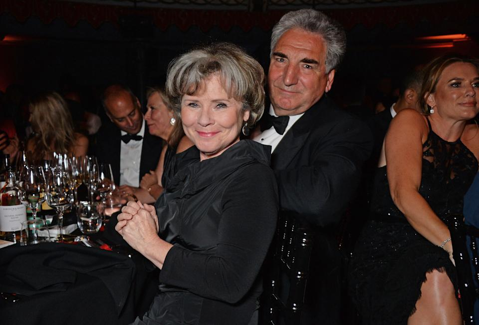 LONDON, ENGLAND - MAY 13:  Imelda Staunton (L) and Jim Carter attend The Old Vic Bicentenary Ball to celebrate the theatre's 200th birthday at The Old Vic Theatre on May 13, 2018 in London, England.  (Photo by David M. Benett/Dave Benett/Getty Images for The Old Vic Theatre)