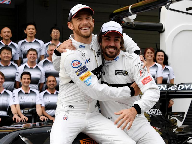 Button could replace former team-mate Alonso for the race (Getty)