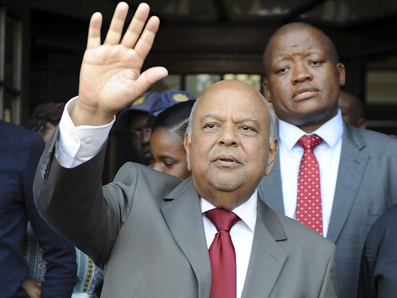 Well-regarded finance minister Pravin Gordhan has lost his job in the reshuffle: AP