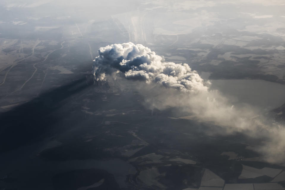 An aerial view of a coal-fired power station in Germany. Coal is the dirtiest of fossil fuels. Photo: Getty
