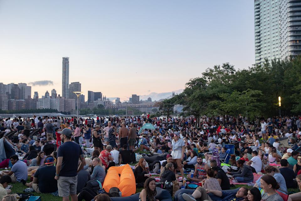 Spectators gather in the Long Island City neighborhood ahead of Fourth of July festivities in New York this month. Source: Getty
