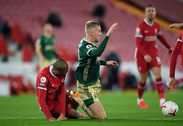 Jurgen Klopp does not think Fabinho's challenge on Oli McBurnie was not a foul