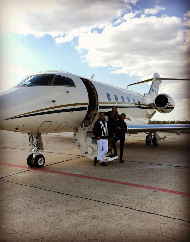 """<p><a rel=""""nofollow"""" href=""""http://people.com/tag/Heidi-Klum/"""">Heidi Klum</a> prepares to board a private plane headed for the French film festival. """"Cannes...here we come!"""" she writes. </p>"""