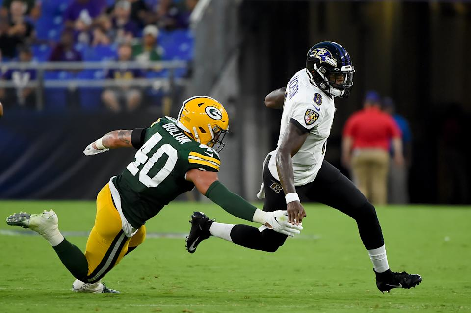 Ravens quarterback Lamar Jackson is looking more and more like a fantasy steal in 2019 drafts. (Photo by Will Newton/Getty Images)