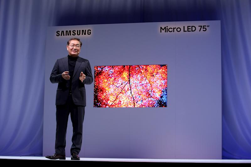 Samsung Unveils Next Generation Of Micro Led Tv Displays At Ces 2019