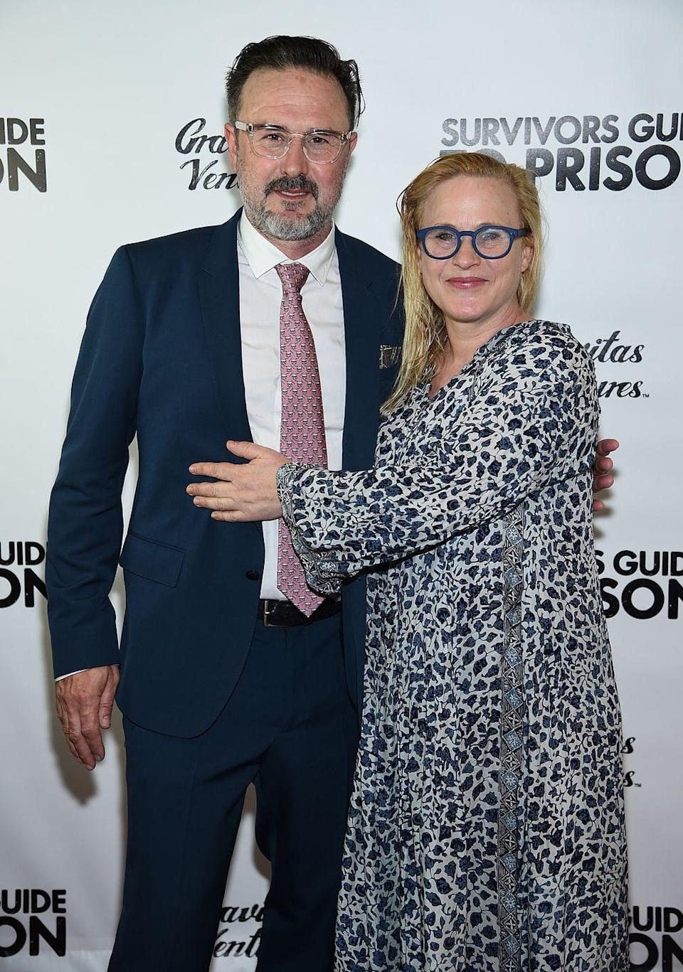 <p>Famous siblings Patricia and David Arquette have three shared siblings, but they're the two we can't stop comparing. Despite their different hair color, the two have the same oblong face shape and small, close set eyes. </p>