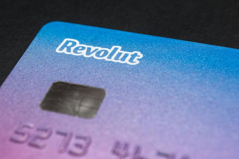 In this photo illustration a Revolut logo seen on a Mastercard debit card. (Photo Illustration by Karol Serewis/SOPA Images/LightRocket via Getty Images)
