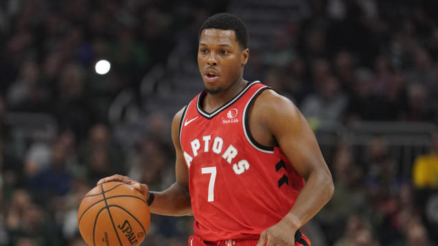 Toronto Raptors' Kyle Lowry dribbles during the first half of an NBA basketball game against the Milwaukee Bucks Saturday, Nov. 2, 2019, in Milwaukee. (AP Photo/Morry Gash)