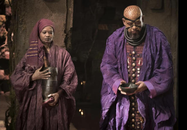 Forest Whitaker (right) as the royal adviser Zuri (Photo: Marvel Studios)