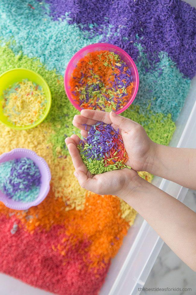 "<p>If you have a kiddie pool, rice table or sandbox, bury some eggs and give kids shovels and scoopers and tell them to dig in! (And if you don't, it's easy to whip up a bin of rainbow rice or bubbly water.) It'll be a sensory experience for them, exposing them to different textures.</p><p><em><a href=""https://www.thebestideasforkids.com/rainbow-rice/"" rel=""nofollow noopener"" target=""_blank"" data-ylk=""slk:Get the tutorial at The Best Ideas for Kids »"" class=""link rapid-noclick-resp"">Get the tutorial at The Best Ideas for Kids »</a></em></p><p><strong>RELATED:</strong> <a href=""https://www.goodhousekeeping.com/life/parenting/g33241051/sensory-bin-ideas"" rel=""nofollow noopener"" target=""_blank"" data-ylk=""slk:The Best DIY Sensory Bin Ideas to Get Kids Used to New Textures"" class=""link rapid-noclick-resp"">The Best DIY Sensory Bin Ideas to Get Kids Used to New Textures</a><br></p>"