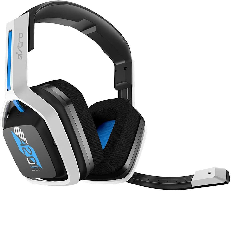 """<p><strong>ASTRO Gaming</strong></p><p>amazon.com</p><p><strong>$119.99</strong></p><p><a href=""""https://www.amazon.com/dp/B08DHH74JQ?tag=syn-yahoo-20&ascsubtag=%5Bartid%7C10054.g.14381053%5Bsrc%7Cyahoo-us"""" rel=""""nofollow noopener"""" target=""""_blank"""" data-ylk=""""slk:Buy"""" class=""""link rapid-noclick-resp"""">Buy</a></p><p>Technically, the Astro A20 is a budget wireless gaming headset. But damn does it function like anything but. The winner of an <a href=""""https://www.esquire.com/lifestyle/a34777283/cool-gadgets-for-men-2020/"""" rel=""""nofollow noopener"""" target=""""_blank"""" data-ylk=""""slk:Esquire Gadget Award"""" class=""""link rapid-noclick-resp"""">Esquire Gadget Award</a>, it holds a long charge, sounds crystal clear, and <a href=""""https://www.esquire.com/lifestyle/g35034712/best-ps5-headsets-3d-audio/"""" rel=""""nofollow noopener"""" target=""""_blank"""" data-ylk=""""slk:hooks up to a PS5"""" class=""""link rapid-noclick-resp"""">hooks up to a PS5</a> (or PS4, PC, or Mac) with ease.</p>"""