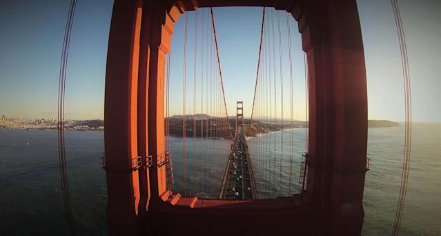 <p>The Golden Gate Bridge, San Francisco, by GotShots, taken at 88 feet. (Caters News) </p>