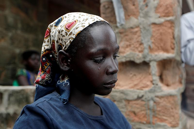 A tear falls down the face of Maria Jofresse, 25, during an interview with Reuters at a camp for the displaced in the aftermath of Cyclone Idai, in John Segredo, near Beira, Mozambique, March 31, 2019. (Photo: Zohra Bensemra/Reuters)