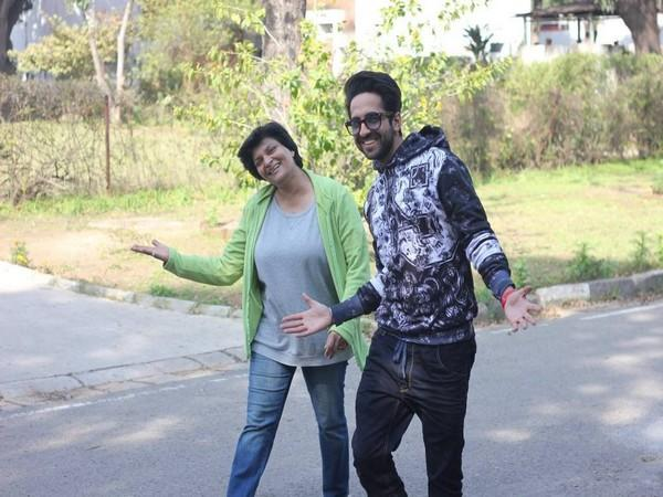 Actor Ayushmann Khurrana with his college professor