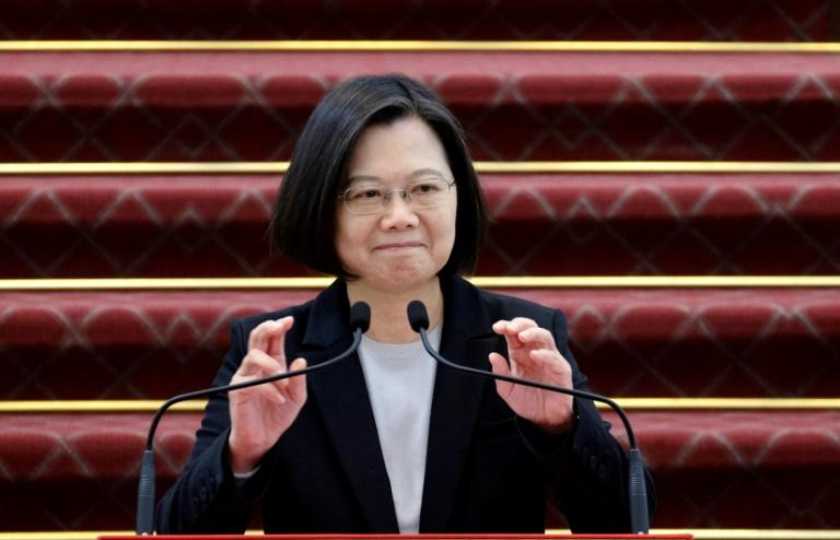 Taiwan President Tsai Ing-wen said Taiwan's 23 million inhabitants face the same health risks and threats as the rest of the world (AFP Photo/Sam Yeh)