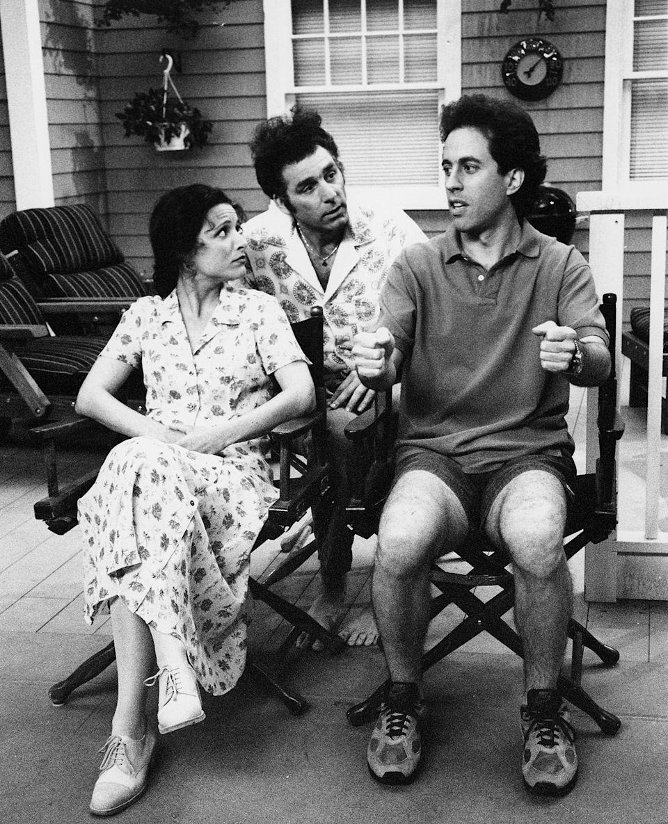 <p>While <em>Seinfeld</em> writers created a script for each episode, some of the sitcom's most iconic moments were improvised.</p>