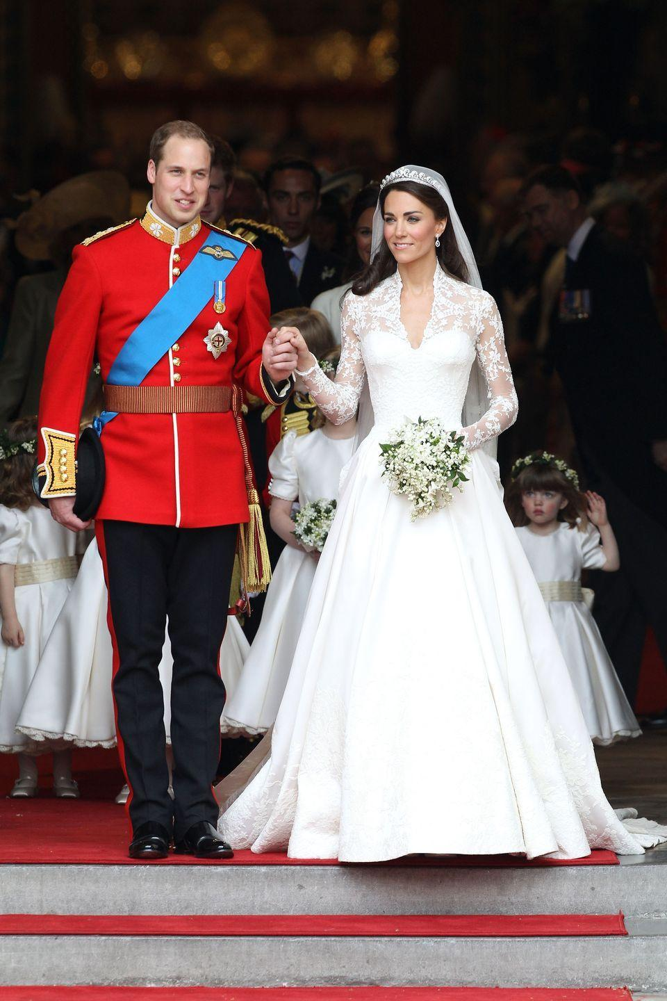 <p>The only thing missing from Kate Middleton and Prince William's royal wedding in 2011 was the flock of birds carrying the duchess's veil.</p>