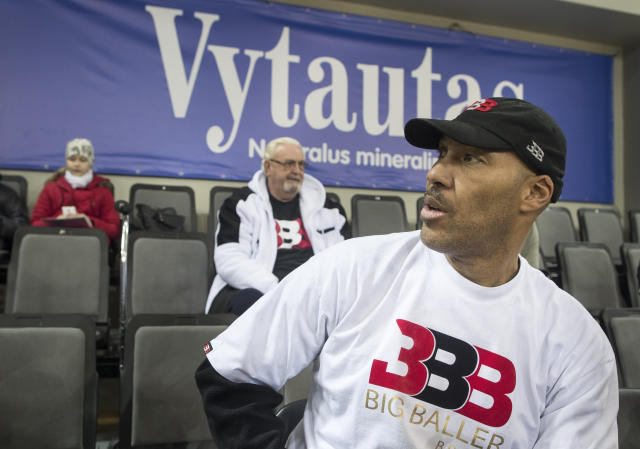 Lavar Ball was aware there was a slim chance LiAngelo Ball would be drafted. (AP Photo)