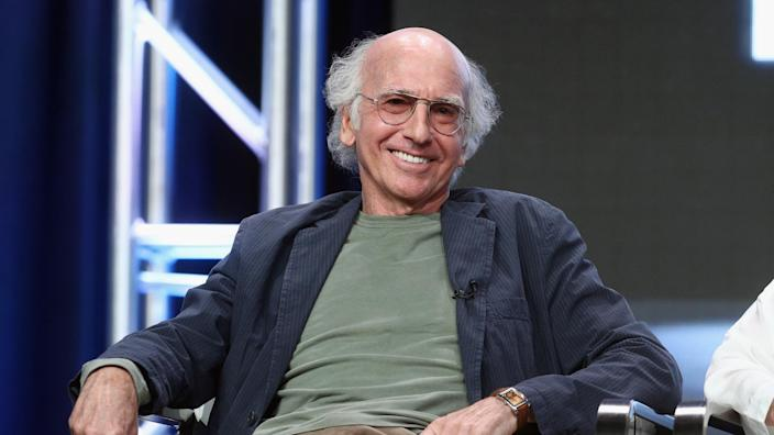 BEVERLY HILLS, CA - JULY 26:  Creator/executive producer Larry David of 'Curb Your Enthusiam' speaks onstage during the HBO portion of the 2017 Summer Television Critics Association Press Tour at The Beverly Hilton Hotel on July 26, 2017 in Beverly Hills, California.