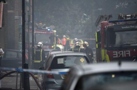 72 firefighters, 10 engines tackle apartment block blaze in east London