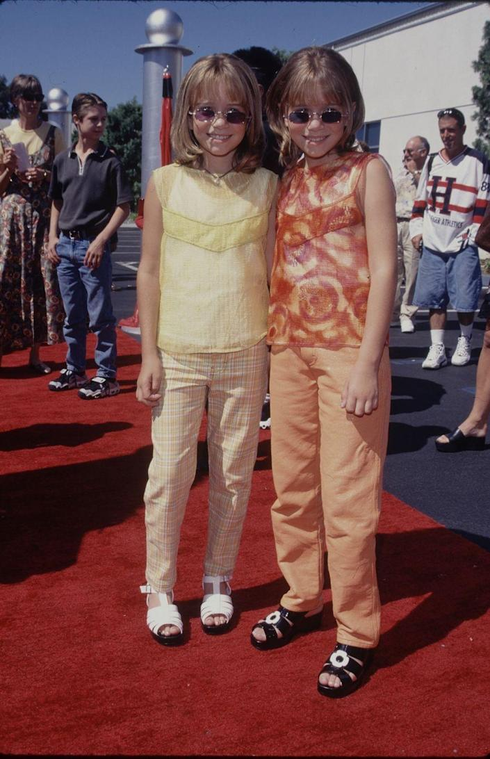 """<p>Okay, technically this is not one child star; it's two. But you can hardly separate Mary-Kate and Ashley Olsen, who were hired to play the role of Michelle Tanner on the TV series <a href=""""https://www.amazon.com/Full-House-Complete-Collection-Various/dp/B00BNPC3D8?tag=syn-yahoo-20&ascsubtag=%5Bartid%7C10050.g.24736857%5Bsrc%7Cyahoo-us"""" rel=""""nofollow noopener"""" target=""""_blank"""" data-ylk=""""slk:Full House."""" class=""""link rapid-noclick-resp""""><em>Full House</em>.</a> As adults, they created their own fashion lines together. </p>"""