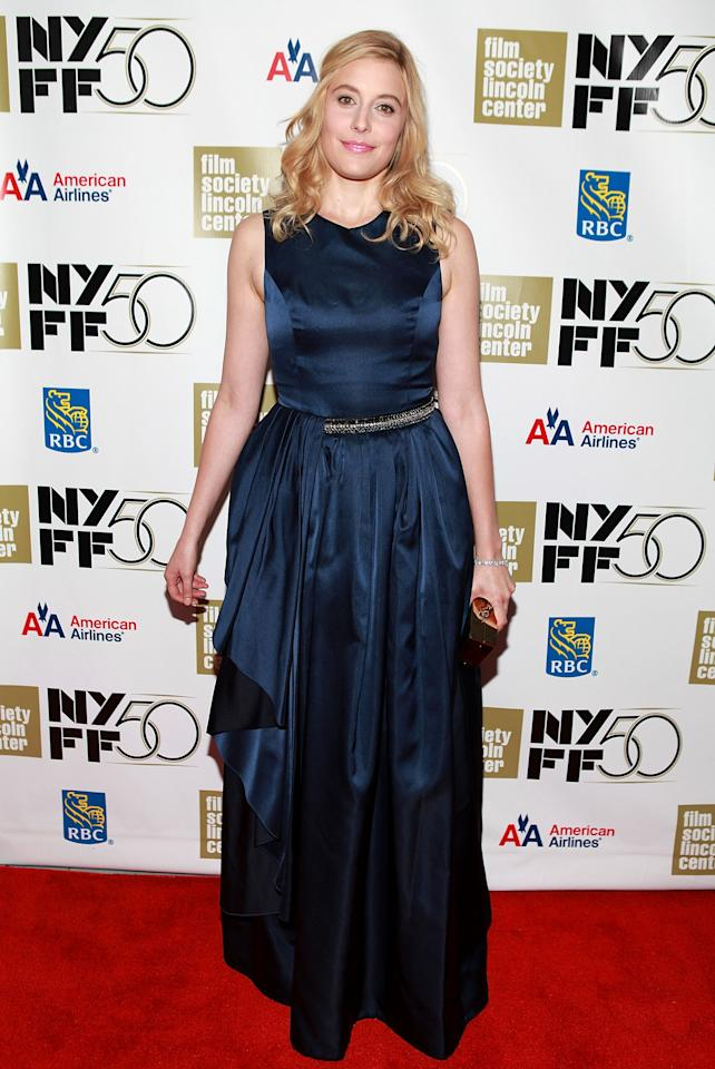 "NEW YORK, NY - SEPTEMBER 30:  Actress Greta Gerwig attends the ""Frances HA"" - Gala Presentation - 50th New York Film Festival at Alice Tully Hall on September 30, 2012 in New York City.  (Photo by Robin Marchant/Getty Images)"