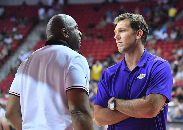 Things have reportedly been rocky between Luke Walton and Magic Johnson. (Getty Images)