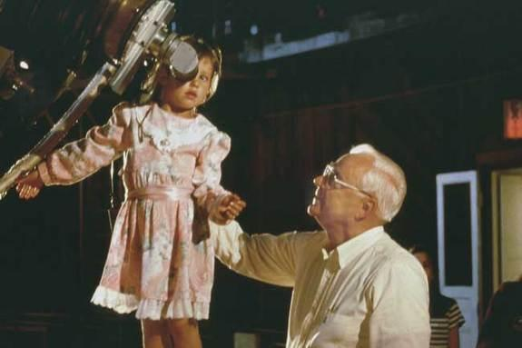 Frank Drake with a young observer at the Lick Observatory.