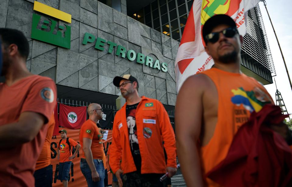 Fachada da sede da Petrobras. (Foto: CARL DE SOUZA / AFP via Getty Images)