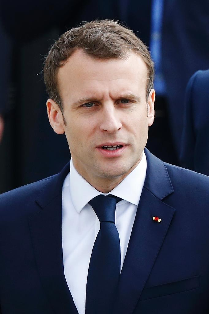 """French President Emmanuel Macron claimed in a TV interview Thursday that he had """"proof"""" that Bashar al-Assad's regime in Syria had used chemical weapons against civilians and vowed a response """"in due course"""" (AFP Photo/CHARLY TRIBALLEAU)"""