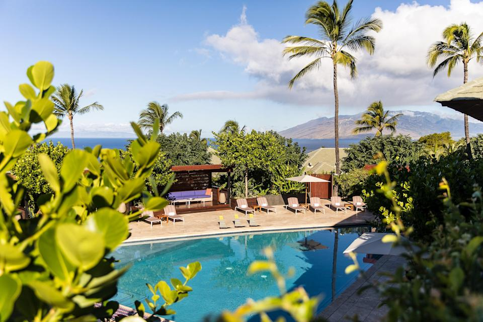 """One of the best resorts in Hawaii, <a href=""""https://www.cntraveler.com/galleries/2014-10-20/top-25-resorts-in-hawaii?mbid=synd_yahoo_rss"""" rel=""""nofollow noopener"""" target=""""_blank"""" data-ylk=""""slk:according to our readers"""" class=""""link rapid-noclick-resp"""">according to our readers</a>, isn't beachfront. But that's actually a positive at <a href=""""https://www.cntraveler.com/gallery/which-hawaiian-island-is-right-for-you?mbid=synd_yahoo_rss"""" rel=""""nofollow noopener"""" target=""""_blank"""" data-ylk=""""slk:Hawaii's"""" class=""""link rapid-noclick-resp"""">Hawaii's</a> only luxury adults-only resort, with 72 suites spread over 15 acres with 180-degree views of neighboring Lanai and Kaho'olawe. Though there's a shuttle to the beach (and attendants to help you with umbrellas, towels, and the like once you hit the sand), be sure to put your vacation in the hands of the incredible staff. Allow them to organize a beach picnic—a gourmet spread to be enjoyed at sunset. You can also arrange kiteboarding lessons, sunset sailing, and aerial yoga. Fan of vintage cars? Take the drive of your dreams in Hotel Wailea's 1957 Porsche 356 Speedster reproduction—provided you know how to drive manual, that is."""