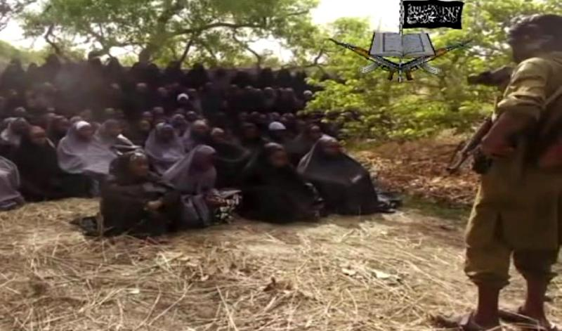 A screen grab from a video released by Boko Haram which shows what the extremist Islamist group claim are the missing Nigerian schoolgirls abducted in Chibok (AFP Photo/HO)