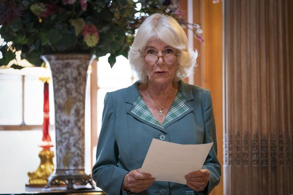 The Duchess of Cornwall was speaking at a Women in Journalism meeting in Scotland (Jane Barlow/PA) (PA Wire)