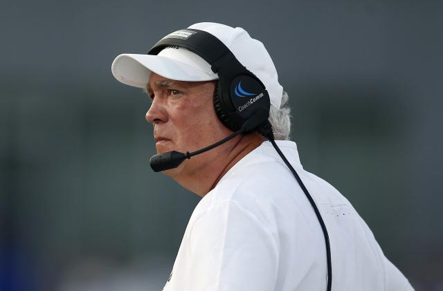 "UMass football coach Mark Whipple used ""rape"" to describe a non-call on one of his players against Ohio on Saturday. (AP)"