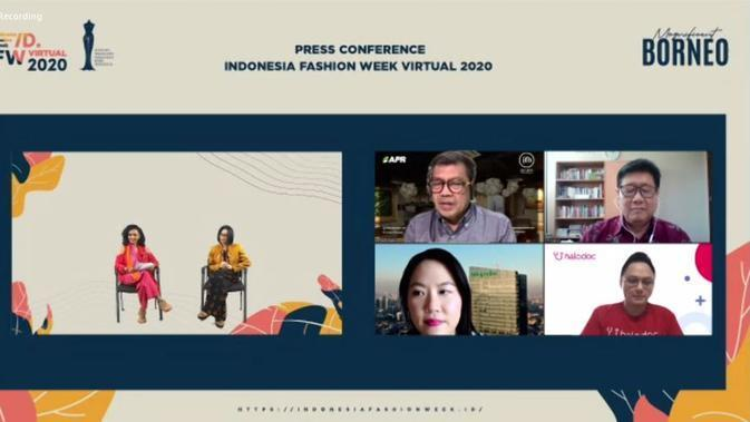 Konferensi pers tentang Indonesia Fashion Week 2020