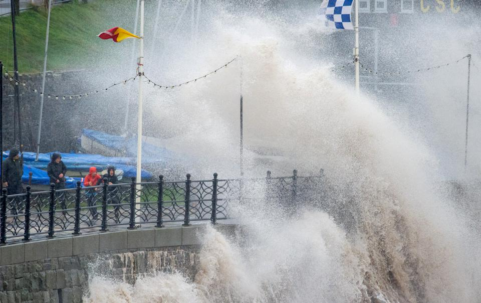 The storm caused heavy rainfall and flooding across the UK. (SWNS)