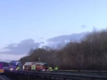 Three people had to be cut from their vehicles after the crash on Friday morning: Screenshot